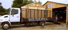 Grand River Sheds Inc. Pine Garden, Hangout Room, Solid Pine, Small Homes, Sheds, Ontario, Canada, The Unit, River