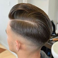 Hard Part Comb Over with High Skin Fade