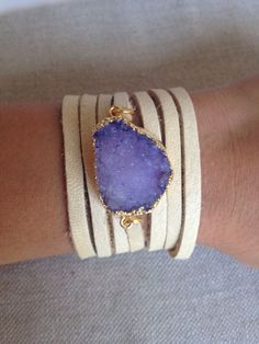 Druzy Wrap Bracelet from BentbyCourtney