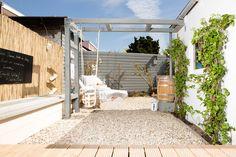 Pergola With Ceiling Fan Outdoor Entertaining, Outdoor Fun, Back Gardens, Outdoor Gardens, Lawn And Garden, Home And Garden, Tiny Garden Ideas, Garden Makeover, Garden Deco