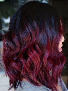 Color De Pelo Rojo Vino Oscuro