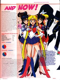 1985-1995 Anime: Then and Now article – Then was Robotech, Star Blazers, Voltron and Battle of the Planets. Now was Sailor Moon, Dragon Ball, Teknoman and Ronin Warriors. Lots of polls and pie charts.