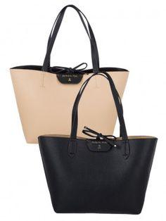 Patrizia Pepe Black Large Reversible Insert Shopper Bag