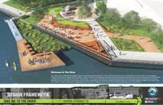 Update: Quorum Architects - Ayres Associates has been named winner of Harbor District, Inc.'s Take Me to the River Design Competition. According to the