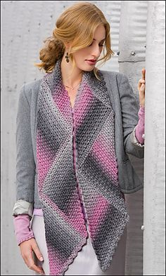 Triangle Magic Scarf  - Free Crochet Pattern at: http://www.redheart.com/free-patterns/shaded-triangles-magic-scarf