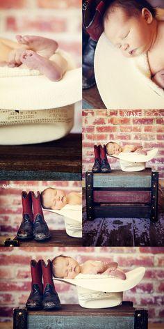 Newborn Photography | Cowboy Boots, Cowboy Hats | Photos by KJane Designs | www.kjanedesigns.com
