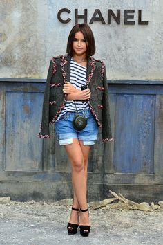 Miroslava Duma  - Afuera de Chanel Fall 2013 Couture