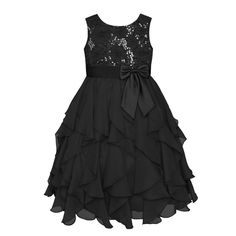 Girls 7-16 & Plus Size American Princess Floral Sequin Soutache Ruffle Dress, Size: 14 1/2, Oxford