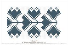 Semne Cusute: MOTIVE: cicoare (P16, M8) Folk Embroidery, Hama Beads, Beading Patterns, Pixel Art, Cross Stitch, Tapestry, Costumes, Traditional, Blog