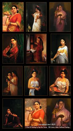 Raja Ravi Varma Paintings: Raja Ravi Varma was an Indian artist from Kerala. Mf Hussain Paintings, Ravivarma Paintings, Indian Art Paintings, Nature Paintings, Animal Paintings, Famous Indian Artists, Famous Art, Raja Ravi Varma, Indian Traditional Paintings