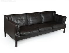 For sale: Mid Century Danish Leather Sofa, Danish Furniture, Retro Furniture, Online Furniture, Antique Furniture, Furniture Design, Mid Century Sofa, Mid Century Furniture, Thick Leather, Selling Antiques