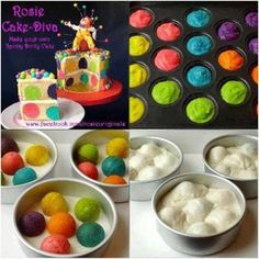 MULTI-COLOR BALL CAKE Recipe   Key Ingredient Recommended by Eat ♥ Sleep ♥ Pin ♥ group member Julie W