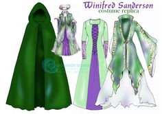 MADE TO ORDER Hocus Pocus Hexe Winifred Sanderson 3 teiliges