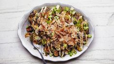 The sweet-acidic-salty-gingery sauce, cooling mayo, and piles of wispy bonito flake toppings of Japanese okonomiyaki go great on pretty much anything. Bon Appetit, Kewpie Mayonnaise, Ginger Pork, Toasted Sesame Seeds, Sprout Recipes, Pork Belly, Ketchup, Joie De Vivre, Gourmet