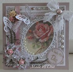 Voorbeeldkaart - Roos, - Categorie: Scrapkaarten - Hobbyjournaal uw hobby website