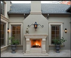 window trim and outdoor fireplace exterior stucco color design ideas pictures remodel and decor