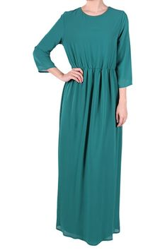 Penny Chiffon Maxi Dress - Dark Green