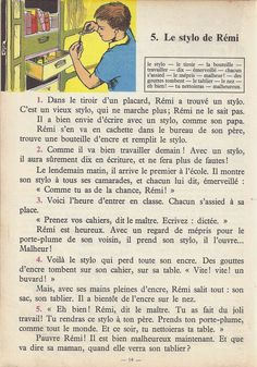 Manuels anciens: Tranchart, Levert, Rognoni, Bien lire et comprendre Cours élémentaire (1963) : grandes images French Learning Books, Teaching French, French Expressions, French Language Lessons, French Lessons, English Story, Learn English, Learn French Fast, French Course