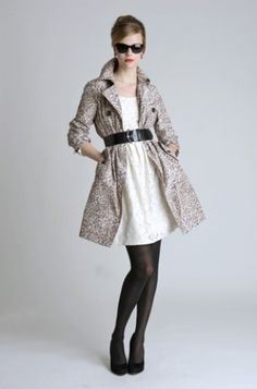 How to wear the coat that won't close, because its not easy finding stuff in thrift stores that fit perfect.