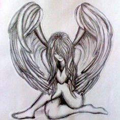 anjo caido Hair Style Image style and image hair products Fairy Drawings, Dark Art Drawings, Pencil Art Drawings, Art Drawings Sketches, Tattoo Drawings, Body Art Tattoos, Wing Tattoos, Sleeve Tattoos, Fairy Tattoo Designs