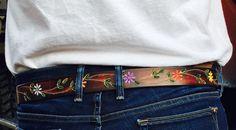 Personalizado cuero cinturón Tooled cuero de la mano de