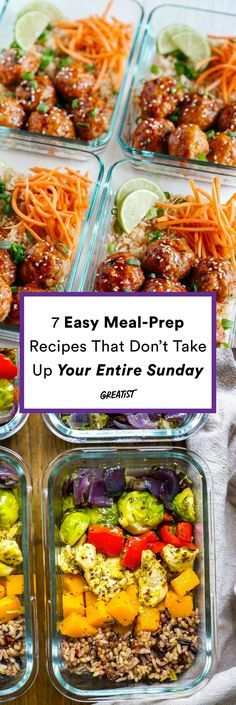 Getting ready for the week doesn't have to be such a process. As long as you find easy recipes and cook enough servings at once, you can be in and out of the kitchen in an hour. Seriously! Try one or two of these recipes and get meal-prepping!