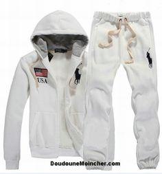 Ralph Lauren polo sweat suit | Ralph Lauren Homme Pas Cher Polo Suit Usa Big Pony Blanc [RL-0121 ...