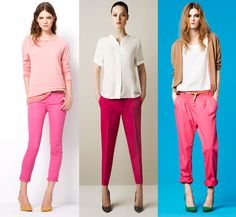 pink pants at zara.com