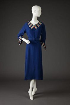 Dress 1930 The Goldstein Museum of Design 1930s Fashion, Moda Fashion, Timeless Fashion, Vintage Fashion, Womens Fashion, Vintage Style, 1930s Style, Vintage Glam, Female Fashion