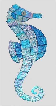 seahorse mosaic Swimming Pool Mosaics Ideas