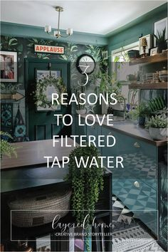 3-reasons-to-love-filtered-tap-water-water2buy Diy Projects On A Budget, Easy Diy Projects, Design Projects, Design Ideas, Dark Green Living Room, Dark Green Kitchen, How To Hang Wallpaper, Wallpaper Ideas, Interior Styling