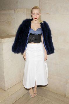 Dove Cameron at Jill Stuart Fall/Winter 2017 Fashion Presentation in NYC 02/11/2017