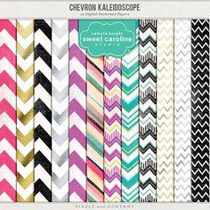 Chevron Kaleidoscope paper pack freebie from Sweet Caroline Studio
