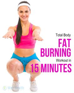 Total body fat burning workout in just 15 minutes. Get slim with this simple fat burning workout plan. Fat Burning Workout Plan, Total Ab Workout, Killer Ab Workouts, Easy Ab Workout, Great Ab Workouts, Effective Ab Workouts, Fitness Workouts, Weight Loss Herbs, Workout For Beginners