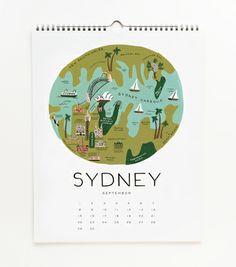 2013 Cities Calendar RIFLE PAPER CO.