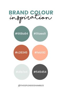 A brand is more than colours. But choosing your colours is a good start. Brand color inspiration.