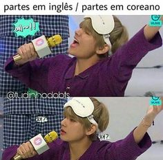 """i  dont even know what this language is but i know spanish and it sounds pretty similar. its saying  """"parts in english/ parts in korean""""  you're welcome."""