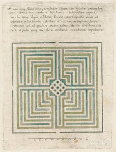 Muzeo   Modèle de labyrinthe de jardin, Anonyme