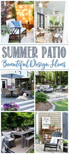 Beautiful summer patio decorating and design ideas. Awesome ideas for any space!… Beautiful summer patio decorating and design ideas. Awesome ideas for any space! Patio Decorating Ideas On A Budget, Diy On A Budget, Decor Ideas, Patio Ideas, Budget Patio, Deck Decorating, Porch Ideas, Diy Ideas, Outdoor Spaces
