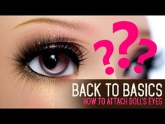 Hi guys and galls :) This is the very first episode of Back to Basics where I cover basic topics about the doll hobby. Todays video will show you how to inse. Doll Eyes, Doll Face, Clay Dolls, Bjd Dolls, Diy Wings, Eye Base, Mime Face Paint, Doll Painting, Dyi Crafts