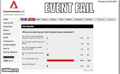 #EPICEVENTFAIL -- taking no poll is definitely better than taking a poll showing NO ONE cares