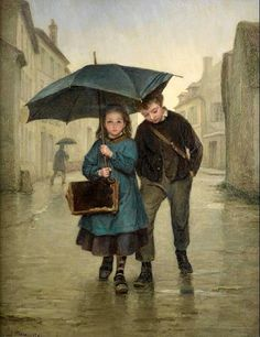 Going To School  Pierre Edouard Frère (1819 – 1886, French)