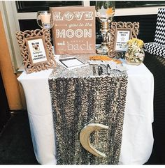 """""""I love you to the moon and back"""" baby shower! Love this!"""