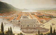 Ephesus Theater and harbor area as it would have appeared in the 2nd century AD. Reconstruction of Ephesus by Balage Balogh is based on current archaeological excavations and photos taken at the site. Further information on www.Archaeologyillustrated.com