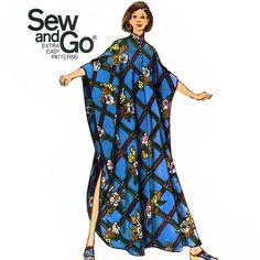 Butterick 6870 Vintage 70s Misses' Caftan Sewing Pattern - Uncut - Size Medium