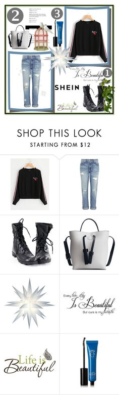 """""""Shein"""" by elma3 ❤ liked on Polyvore featuring Current/Elliott, WALL, Brewster Home Fashions and Eyeko"""