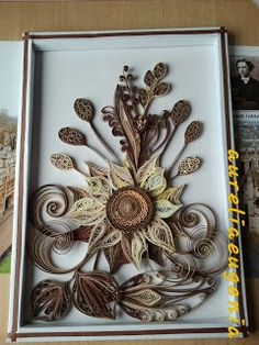 Idei si Creatii Quilling: In wintertime,I miss the sunflower !