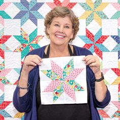 The Lemon Star Quilt is Jenny's easy peasy version of the LeMoyne star block! It doesn't get any better than a vintage quilt made in a simple and easy way! Missouri Star Quilt Pattern, Missouri Quilt Tutorials, Quilting Tutorials, Quilting Designs, Msqc Tutorials, Quilting Ideas, Star Quilt Blocks, Star Quilt Patterns, Star Quilts