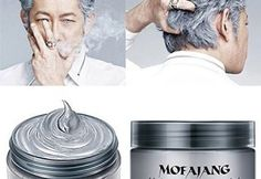 MOFAJANG Hair Color Wax,Instant Silver Grey Hair Wax,Temporary Hairstyle Cream oz, Silvery Grey Hair Pomades, Natural Silver Ash Matte Hairstyle Wax for Men and Women (Ash Matte Grey) Silver Ash Hair, Grey Hair Wax, Temporary Hair Color, Hair Pomade, Hair Dye Colors, Hair Colour, Change Hair Color, Professional Hairstyles, Professional Women