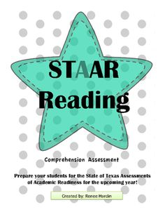 STAAR+READING+PRACTICE+TEST+from+Teach,Learn&CreateShoppe+on+TeachersNotebook.com+-++(21+pages)++-+In+the+big+state+of+Texas,+all+students+must+endure+the+STAAR+Test.++Practice+makes+passing!